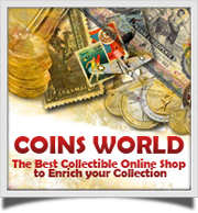Collectibles online shop. Buy online coins, Euro coins, stamps, paper money, gold coins, silver coins, ancient coins and more at Coins World.