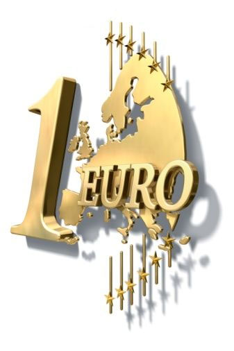 The symbol of the euro