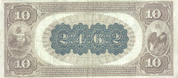 us banknotes - ten dollars