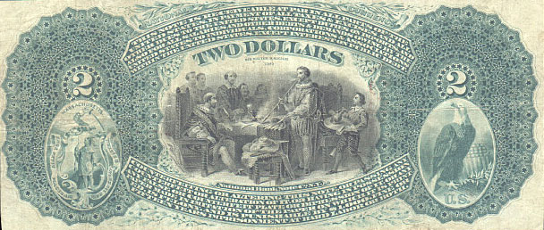 us banknotes - two dollars