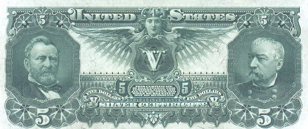 us banknotes - five dollars